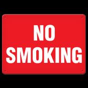 "No Smoking (7""x10"") Rigid Plastic"