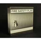 Fire Safety Plax Box - 2 Pad Locks Stainless Steel