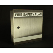 Fire Safety Plax Box - Keyed for Peel Region Stainless Steel