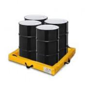 """40 GAL Quick-Deploy SpillNEST - 4'x4'x4""""-Yellow"""