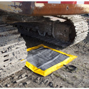SpillNEST XT Off-Road Drip Pad w/ Grommets - 4 x4  - Yellow