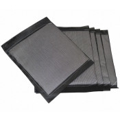 """Replacement Pads, PVC Coated For No. T8343, 36"""" Length, 72"""" Width X-Large, 5 Per Box, Black"""