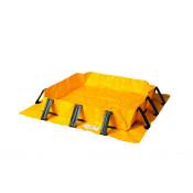 """80 Gal Talon Spill Berm - 4'x4'x8""""-Yellow"""