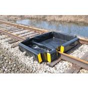 120 Gal SpillNEST Rail Berm,  4' x 6' x 1'-Black