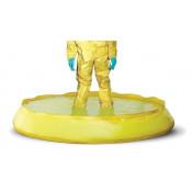 100 GAL SpillNEST Decon Pool w/ drain - Yellow