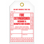 Fire Extinguisher Inspection Tag (25/pkg)