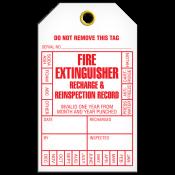 Fire Extinguisher Inspection Tag (25/pkg)