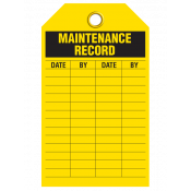 Maintenance Record Tag (25/pkg)