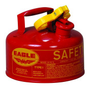 Type I Steel Safety Can For Flammables, 1 Gallon, Flame Arrester, Red