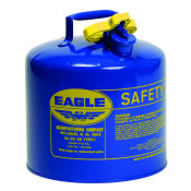 Type I Steel Safety Can For Kerosene, 5 Gallon, Flame Arrester, Blue