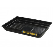 """20 Gallon EcoPolyBlend™ Spill Tray, 47-1/2""""W X 23""""D X 5-1/2""""H, Indoor Or Outdoor Use, Rigid, Recycled Polyethylene, Black"""