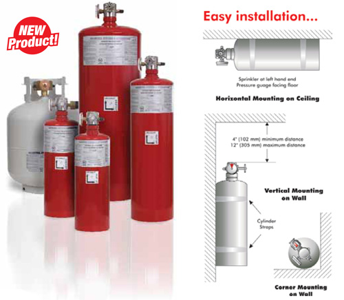Clean Agent Automatic Fire Extinguisher Automatic Clean Agent Fire